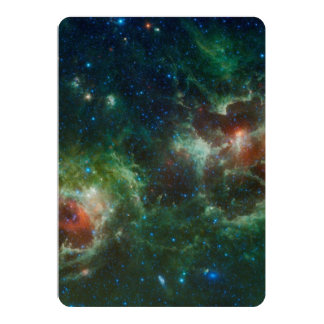 Heart and Soul nebulae infrared mosaic NASA 13 Cm X 18 Cm Invitation Card