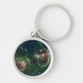 Heart and Soul nebulae infrared mosaic NASA Key Chain
