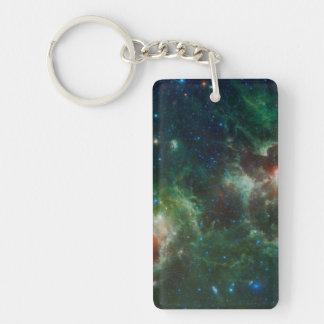 Heart and Soul nebulae infrared mosaic NASA Double-Sided Rectangular Acrylic Keychain