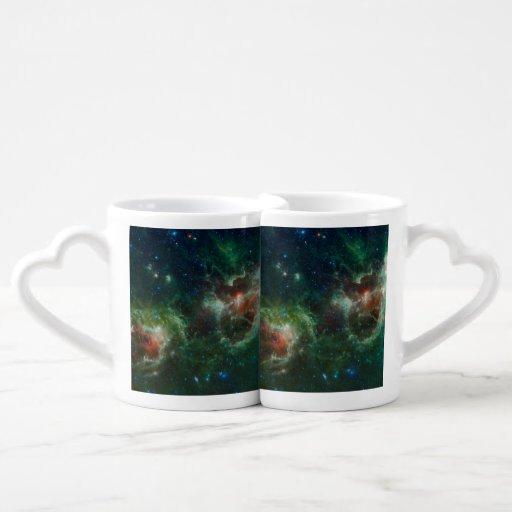 Heart and Soul nebulae infrared mosaic NASA Couples Mug