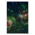 Heart and Soul nebulae infrared mosaic NASA Poster