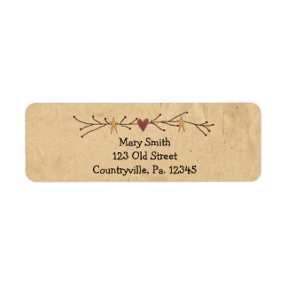 Heart And Stars Address Label