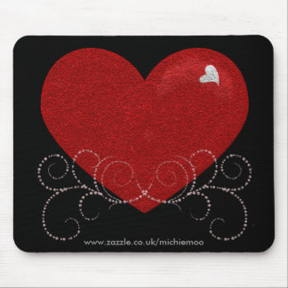 Heart and Swirls Mousepad