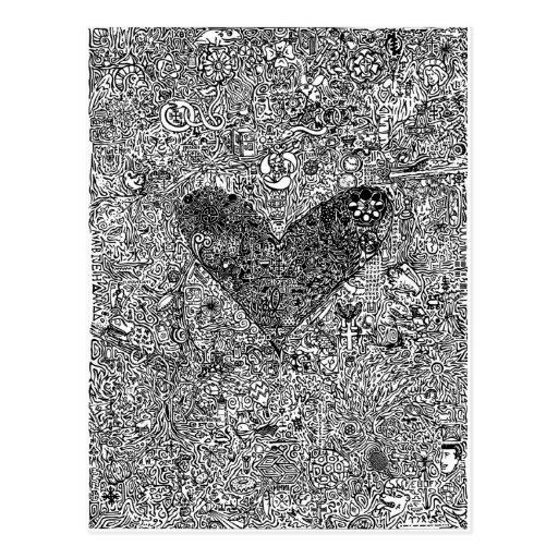 Heart and Symbols Post Card