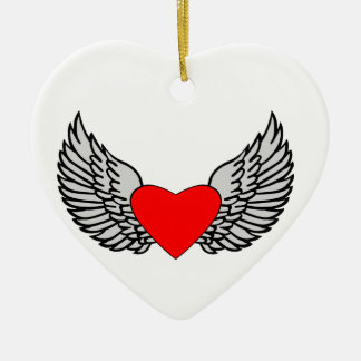 Heart and Wings Christmas Ornament