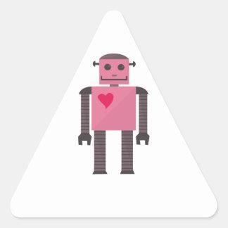Heart Andriod Triangle Sticker