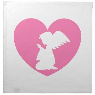 Heart Angel Napkin