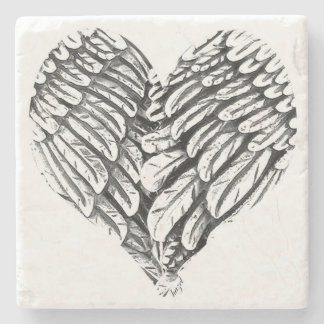 Heart, Angel Wings, Spiritual Coasters