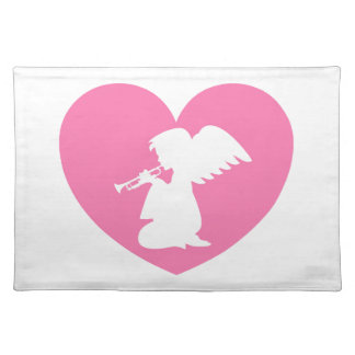 Heart Angel with Trumpet Placemat