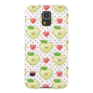 Heart Apples with Pink Polka Dots And Hearts Galaxy S5 Covers