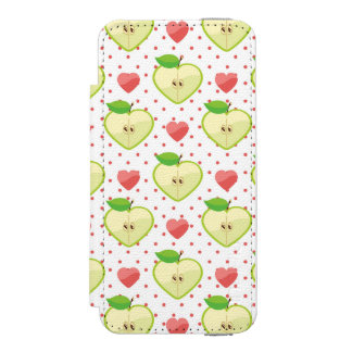 Heart Apples with Pink Polka Dots And Hearts Incipio Watson™ iPhone 5 Wallet Case