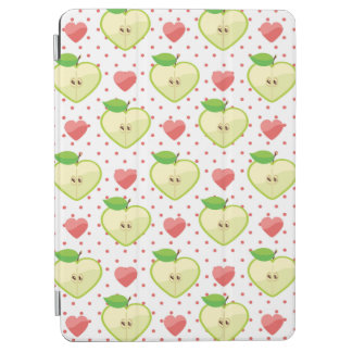 Heart Apples with Pink Polka Dots And Hearts iPad Air Cover