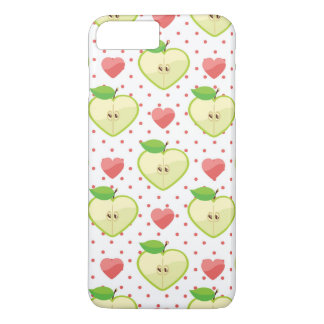 Heart Apples with Pink Polka Dots And Hearts iPhone 8 Plus/7 Plus Case