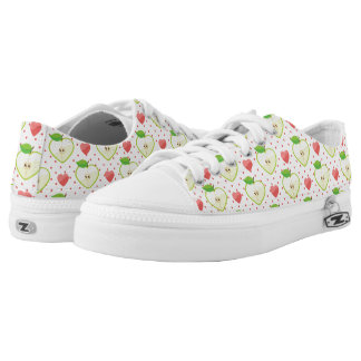 Heart Apples with Pink Polka Dots And Hearts Low Tops