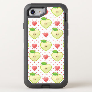 Heart Apples with Pink Polka Dots And Hearts OtterBox Defender iPhone 8/7 Case