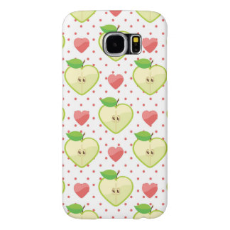 Heart Apples with Pink Polka Dots And Hearts Samsung Galaxy S6 Cases