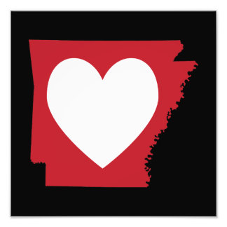 Heart Arkansas Photo Print