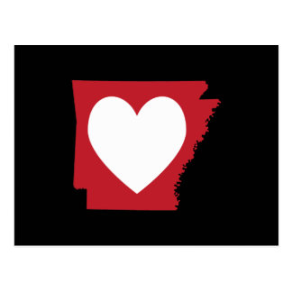 Heart Arkansas Postcard