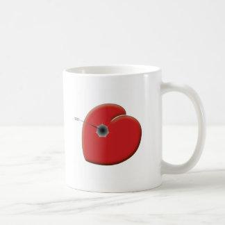 Heart Arrow Basic White Mug