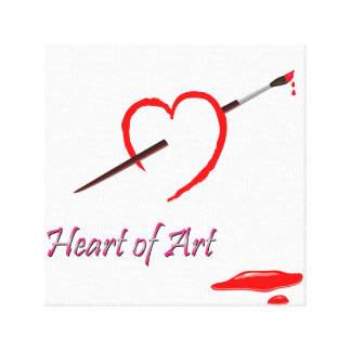Heart Art Canvas