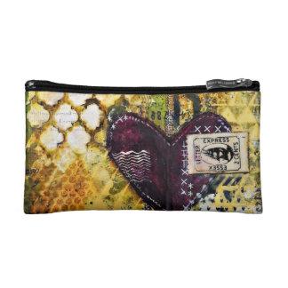 Heart Art Cosmetic Bag