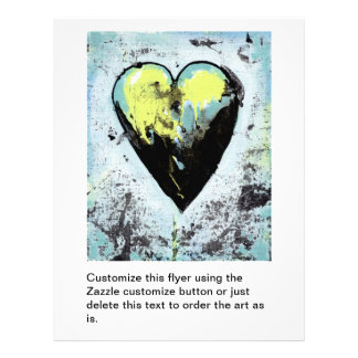 Heart art messy expressive scarred modern painting 21.5 cm x 28 cm flyer