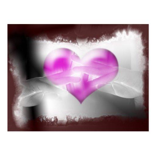 heart at hand post card