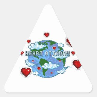 Heart Attack!!! Triangle Sticker