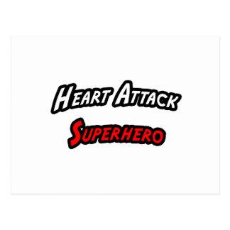 Heart Attack Superhero Postcard