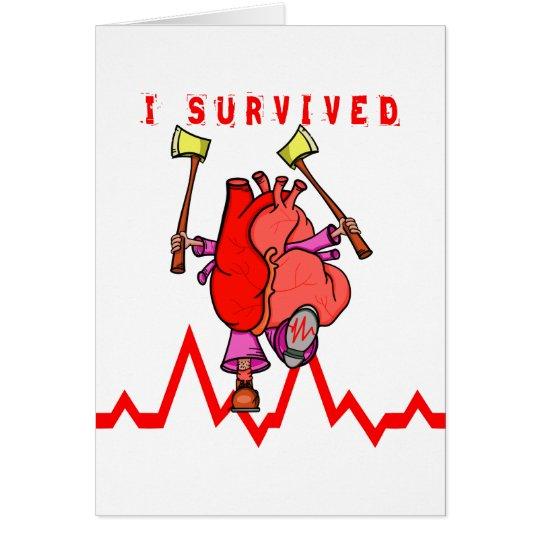 Heart attack survivor card