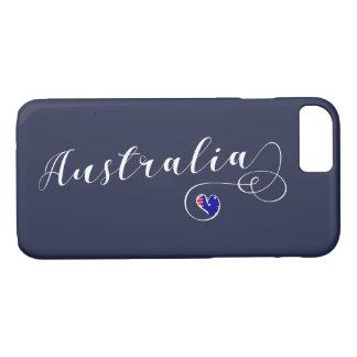 Heart Australia Cell Phone Case, Australian iPhone 8/7 Case