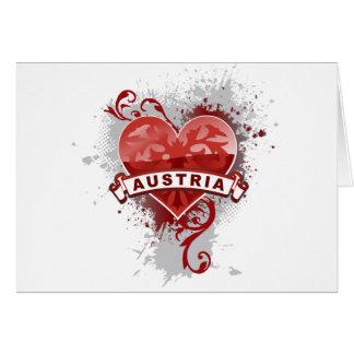 Heart Austria Greeting Card