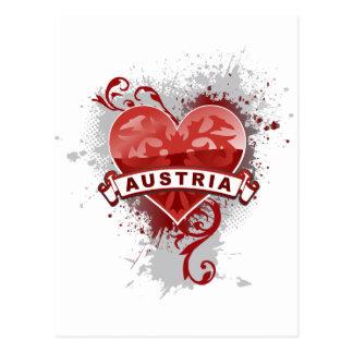Heart Austria Post Card