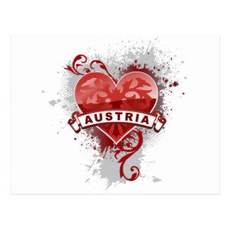 Heart Austria Postcard