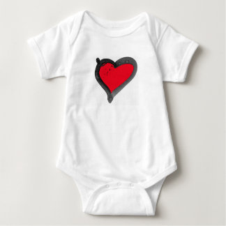 heart baby body suit baby bodysuit