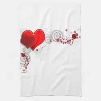 Heart Background Kitchen Towel