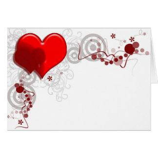 Heart Background Note Card