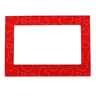 Heart Background Pattern Magnetic Picture Frame