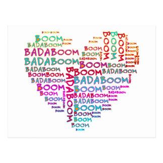 Heart Badaboom | make your own background Postcards