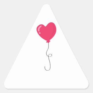 Heart Balloon Triangle Sticker