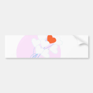 Heart Balloons Bumper Sticker