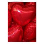 heart balloons greeting card