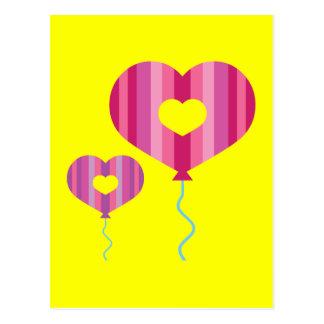 Heart Balloons Postcards