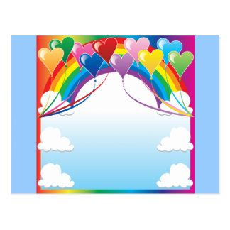 Heart Baloon Background Postcards