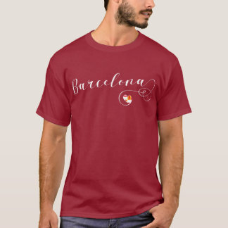 Heart Barcelona Tee Shirt, Catelonia