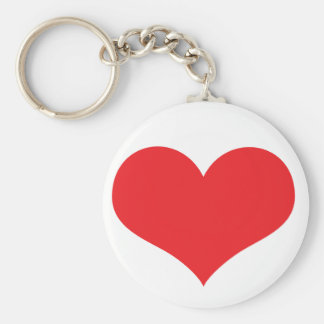 Heart Basic Round Button Key Ring