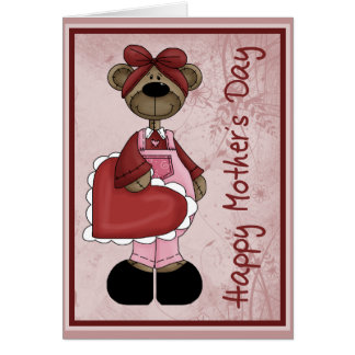 Heart Bear Mother´s Day Card