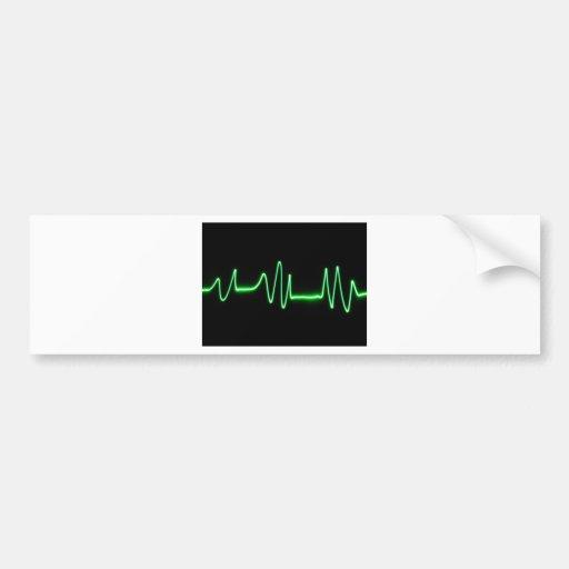 Heart Beat Bumper Sticker