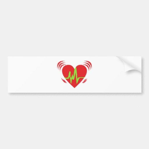 Heart beat heart beat bumper sticker