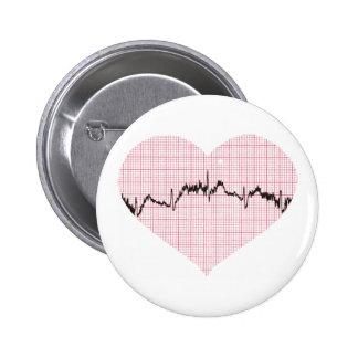 Heart Beat III 6 Cm Round Badge